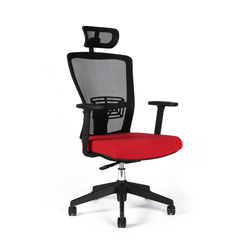 Office chair with headrest, TD-14, red - THEMIS SP