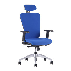 Office chair with headrest,  2621, blue - HALIA SP