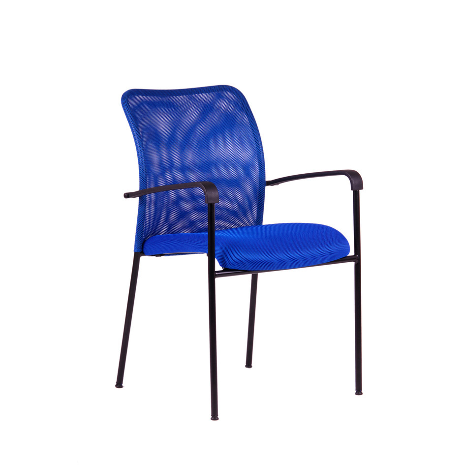 Meeting chair, DK 90, blue - TRITON BLACK