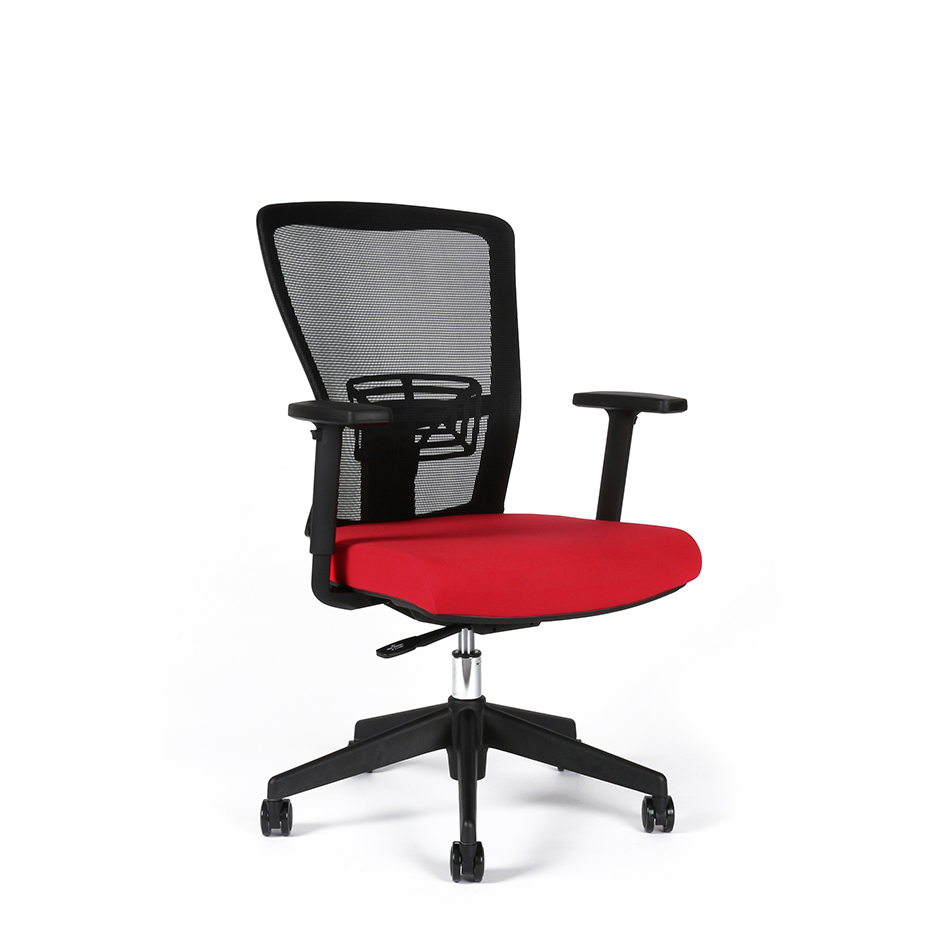 Office chair, TD-14, red - THEMIS BP