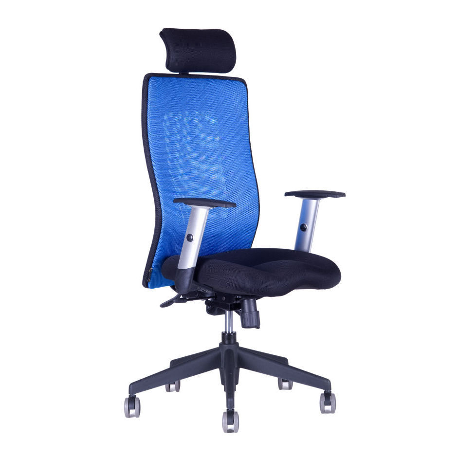 Office chair with headrest, 14A11, blue - CALYPSO GRAND SP1
