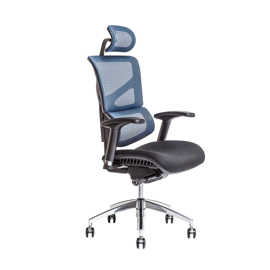 Office chair with headrest, IW-04, blue - MEROPE SP